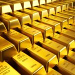 Gold's double bottom targets flag top
