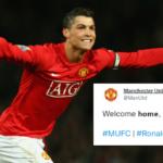 Manchester United FC: Welcome home, Cristiano Ronaldo